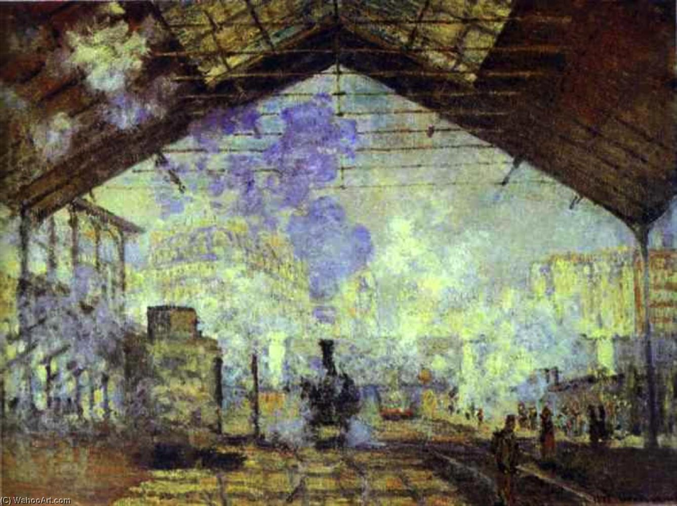 famous painting bahnhof saint lazare , Pari of Claude Monet