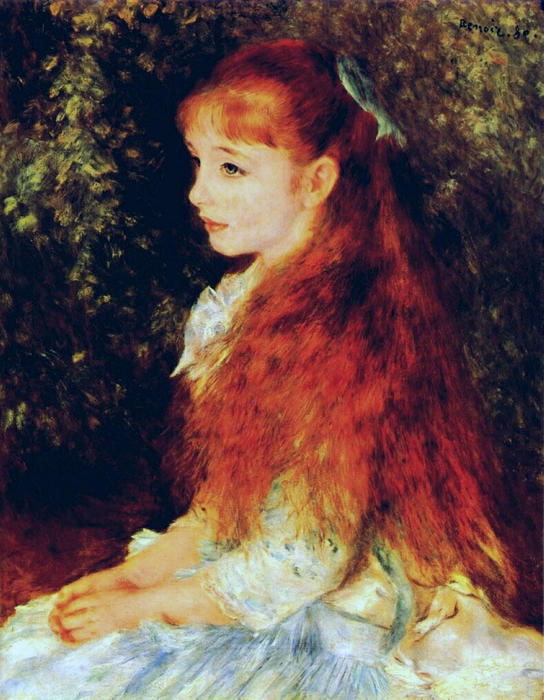 famous painting Mlle Irene Cahen d Anvers of Pierre-Auguste Renoir