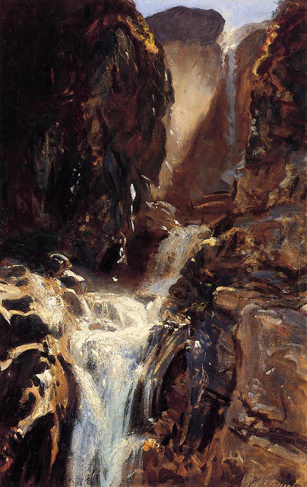 famous painting Ein Wasserfall of John Singer Sargent