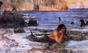 John William Waterhouse - Der Merman (Skizze)
