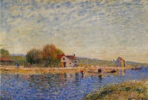 Alfred Sisley - Der Loing Canal