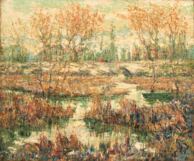 famous painting Spätsommer of Ernest Lawson