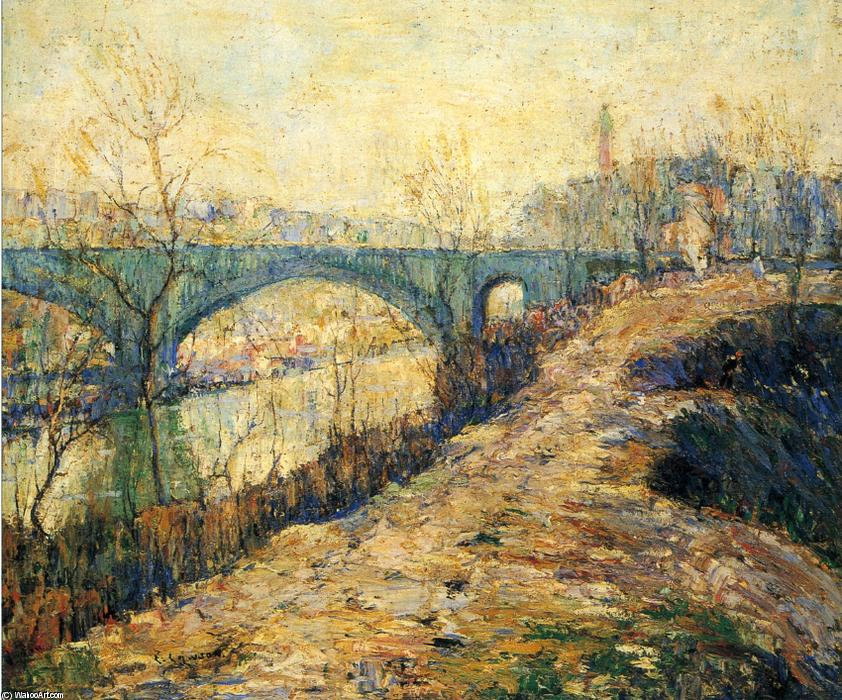 famous painting Washington-Brücke of Ernest Lawson