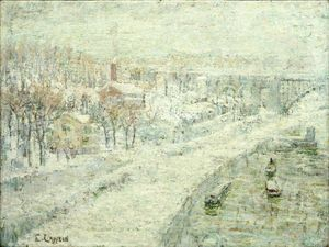 Ernest Lawson - winterlandschaft Washington-Brücke