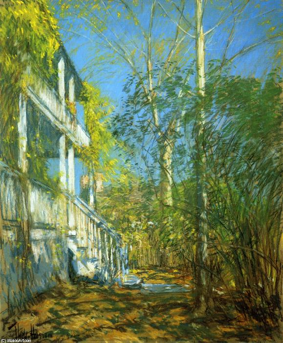 famous painting Sommer in Cos Cob of Frederick Childe Hassam