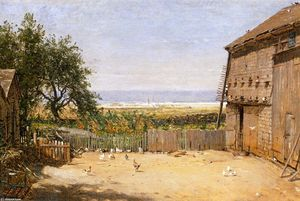 Thomas Worthington Whittredge - Das Meer von der Dove Cote, Newport, Rhode Island