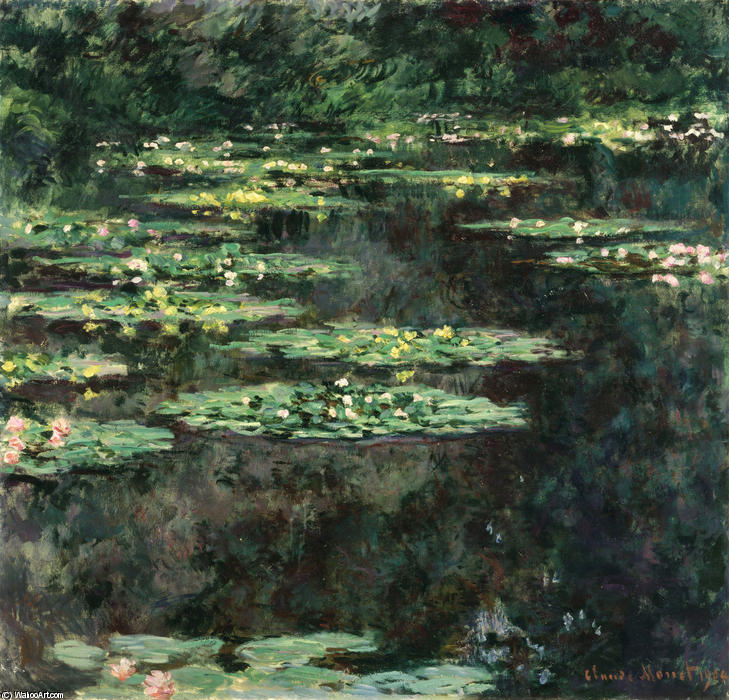 famous painting Seerosen 11 of Claude Monet