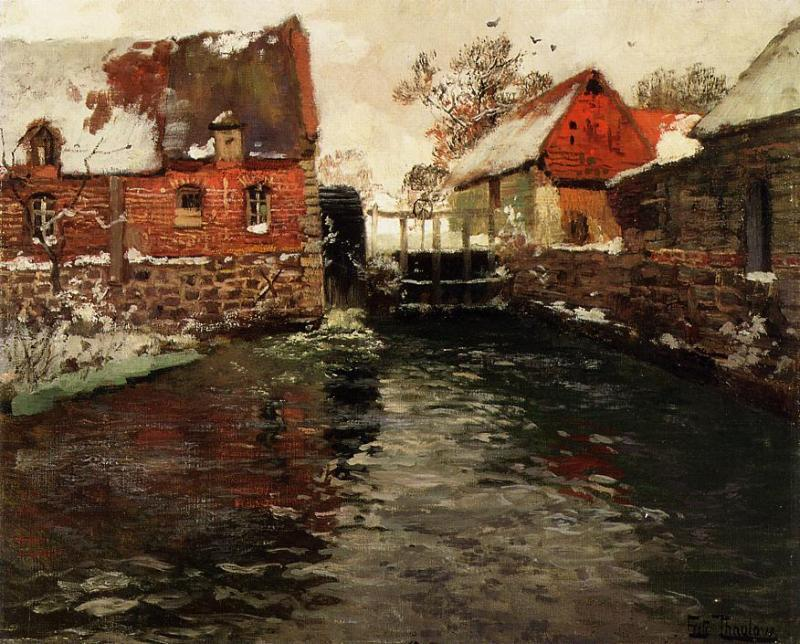 famous painting die mühle of Frits Thaulow