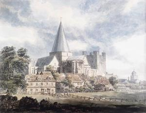 Thomas Girtin - rochester cathedral und castle , von dem North­East