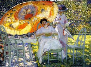 Frederick Carl Frieseke - The Garden Parasol