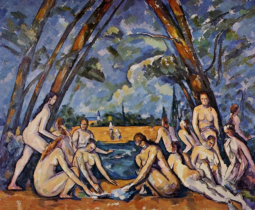 famous painting der große badende of Paul Cezanne