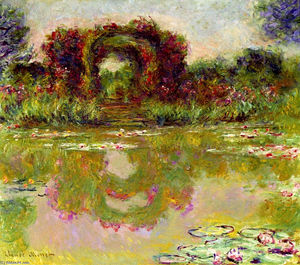 Claude Monet - Rosen-Bögen in Giverny