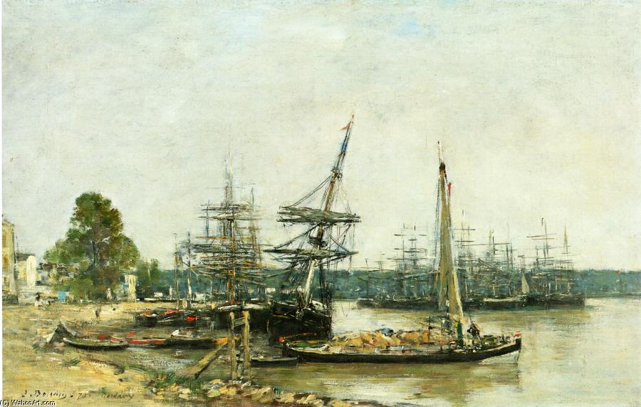 famous painting Bordeaux of Eugène Louis Boudin