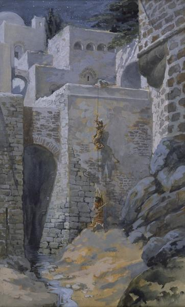 famous painting der flug von dem `spies` of James Jacques Joseph Tissot