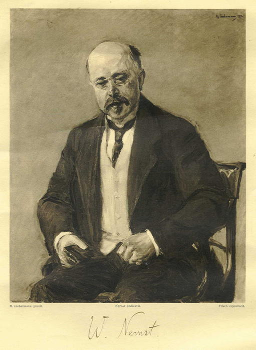 famous painting Walther Nernst of Max Liebermann