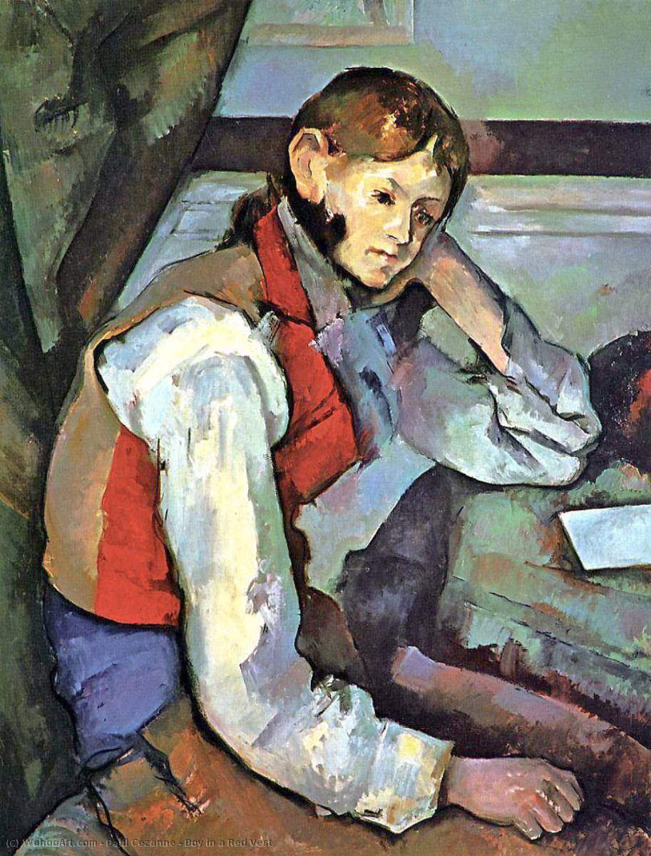 famous painting Boy in einer roten Weste of Paul Cezanne