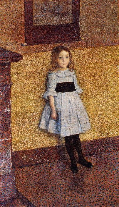famous painting kleine denise of Theo Van Rysselberghe