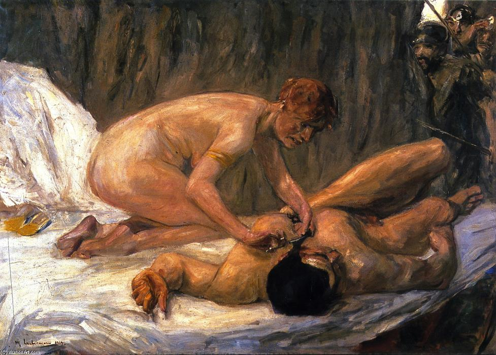 famous painting Samson und Delilah of Max Liebermann