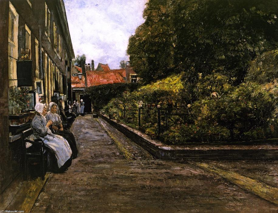 famous painting Stevenstift in Leiden, erste Version of Max Liebermann