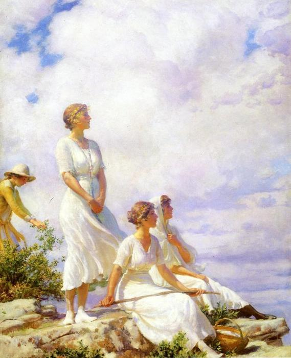 famous painting sommer wolken of Charles Courtney Curran