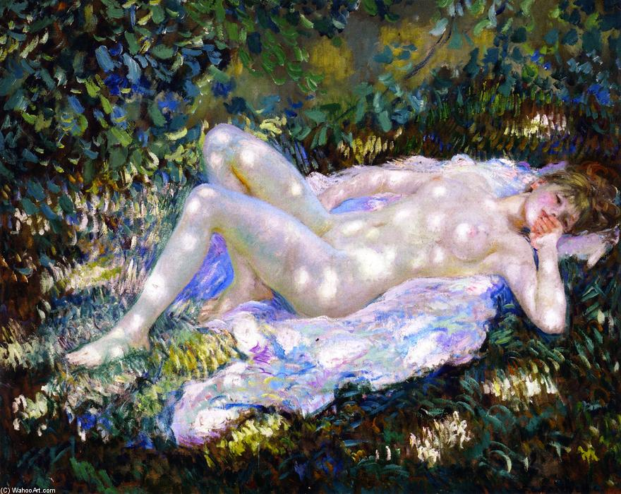 famous painting Sonnenflecken of Frederick Carl Frieseke