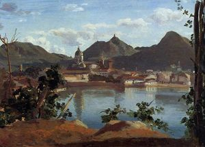 Jean Baptiste Camille Corot - der stadt and See Como