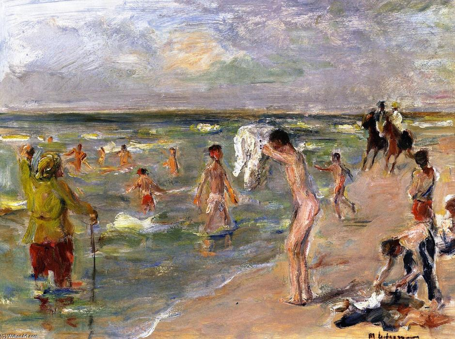 famous painting Young Boys Baden in Zandvoort of Max Liebermann
