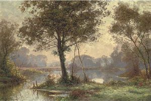 Albert Gabriel Rigolot - Am Lake an  der  Waldes