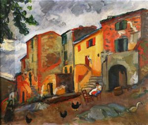 Charles Camoin - dorf straße , Collioure