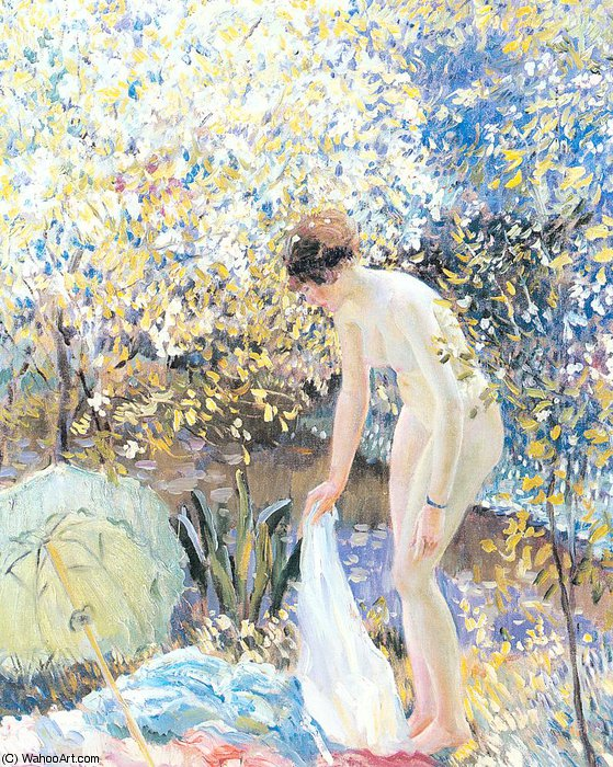 famous painting ohne titel 8494   of Frederick Carl Frieseke