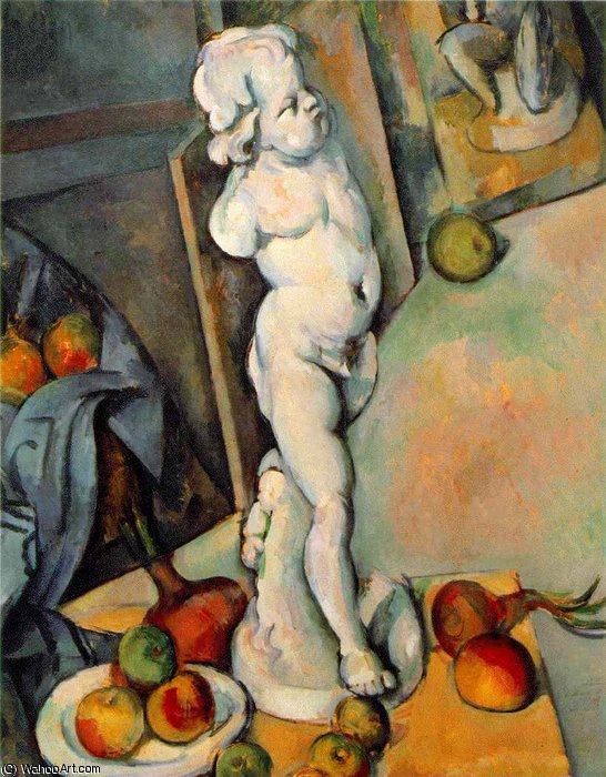 famous painting Stillleben mit gips cupido , 1895 , courtauld instit of Paul Cezanne