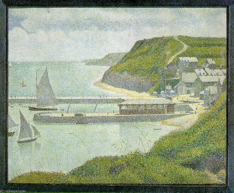 famous painting Port-en-Bessin - Outer Harbor an der Flut, of Georges Pierre Seurat