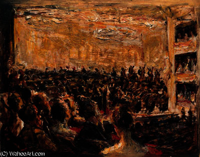 famous painting Konzert in der Oper of Max Liebermann