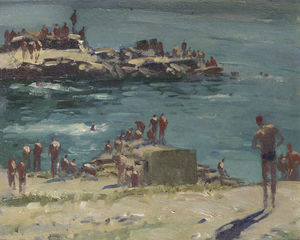 Edward Seago - Soldiers Baden am Duino, Portugal