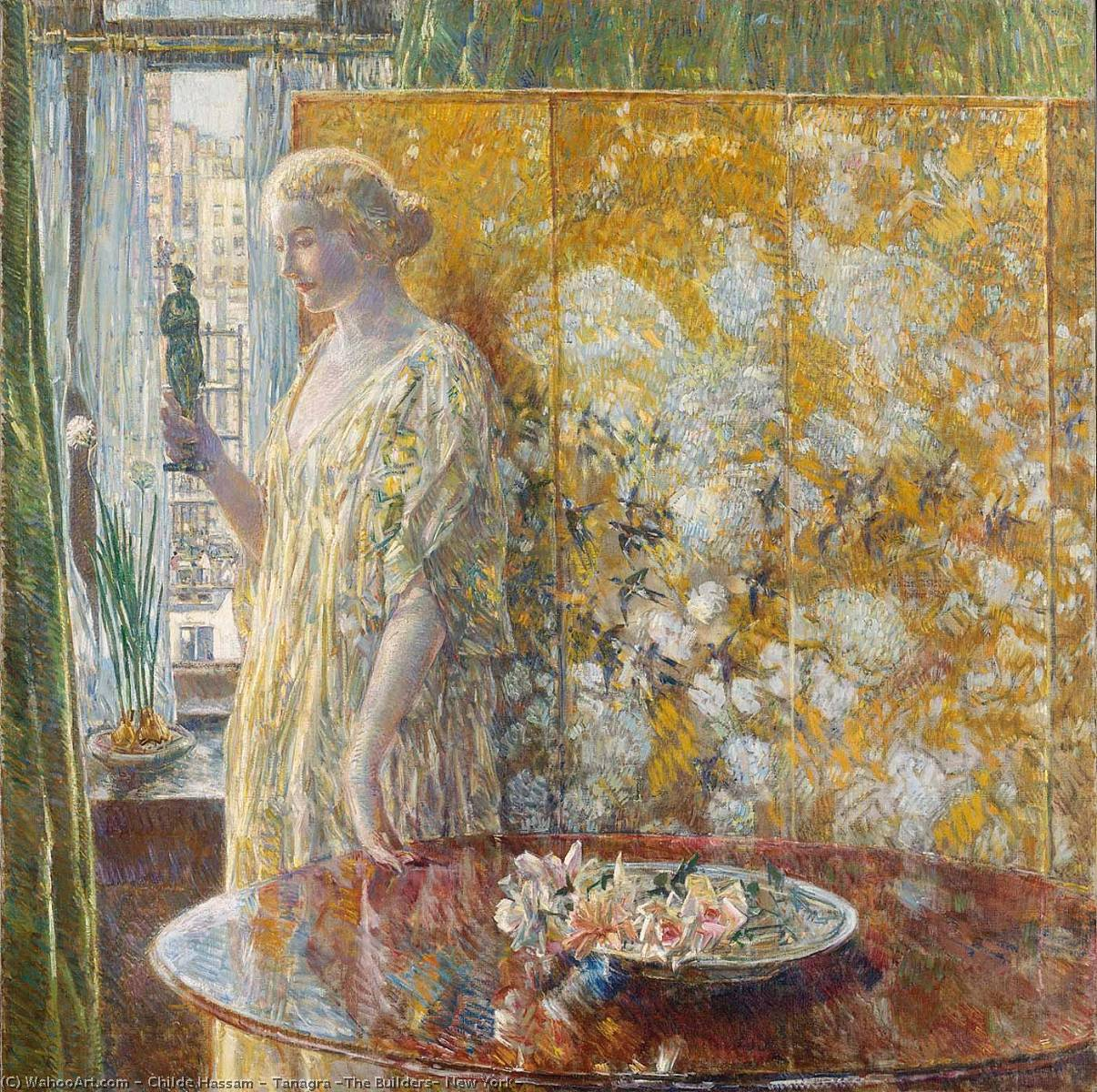 famous painting Tanagra ( die builders , new york ) of Frederick Childe Hassam